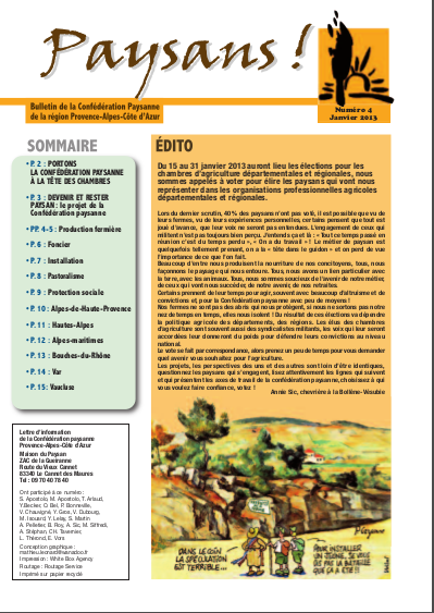 Urgences inondations recommandations de la chambre d 39 agriculture du var conf d ration paysanne - Chambre d agriculture haute vienne ...